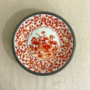 Vintage Handpainted Lily Pads Dish